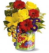 Flower Bouquets: Birthday Ribbon Bouquet