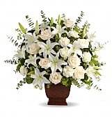 Funeral Flowers: Loving Lilies & Roses Bouquet