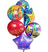 Balloons: Congratulations Balloon Bouquet-6 Mylar