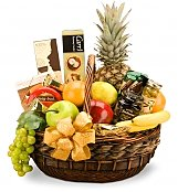 Food & Fruit Baskets: Anniversary Premium Basket