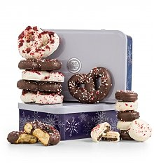 Chocolate & Sweet Baskets: Peppermint Pairings Holiday Tin