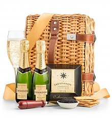 Wine Baskets: Champagne and Caviar